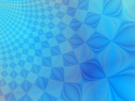 rendition: Fractal rendition of blue beads back ground