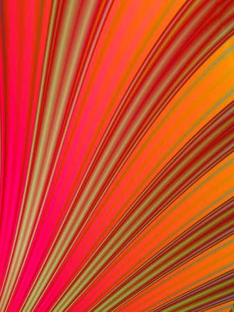 rendition: Fractal rendition of red curves back ground