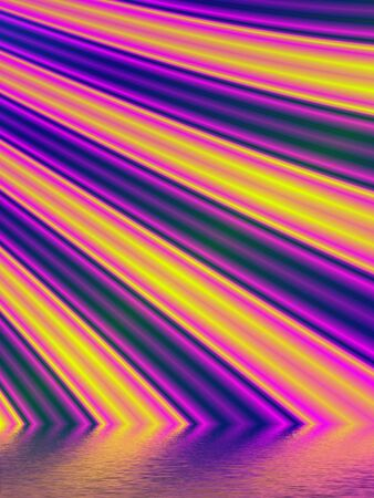 Fractal rendition of colored curves back ground