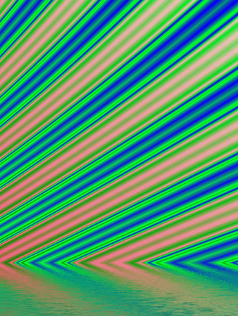rendition: Fractal rendition of green lawn back ground