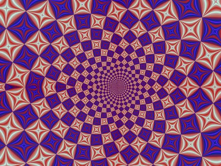 Fractal rendition of kaleidoscope back ground