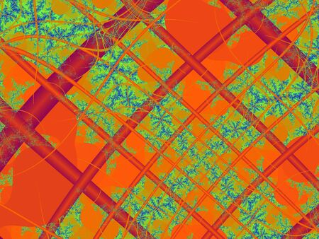 Fractal rendition of orange autumn back ground photo