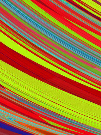 rendition: Fractal rendition of paint stripes back ground