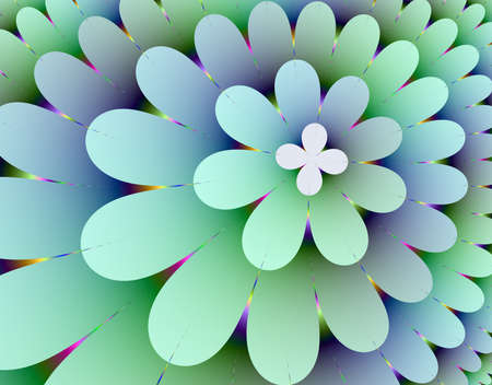 Fractal rendition of multi-colored flower back ground photo