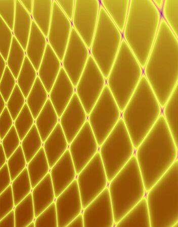 Fractal rendition of golden fishing net back ground Stock Photo