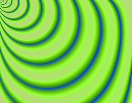 torrent: Fractal rendition of abstract green curve background Stock Photo