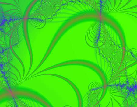 macro leaf: Fractal rendition of macro shot of a green leaf