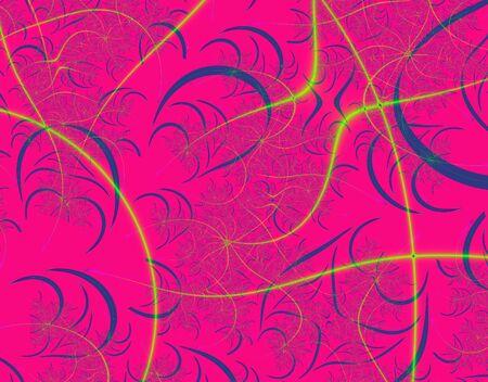 Fractal rendition of pink curve background photo