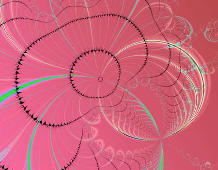Fractal rendition of a pink wild flower back ground Stock Photo - 1649685
