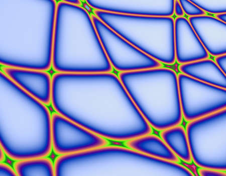 ice surface: Fractal rendition of network, could be spider web; rubber bands; technology etc. Stock Photo