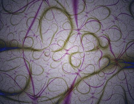 voilet: Fractal rendition of gray curls resembling hair locks