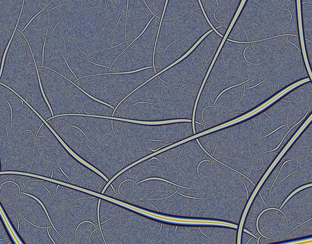 Fractale weergave van een menselijk zenuwstelsel