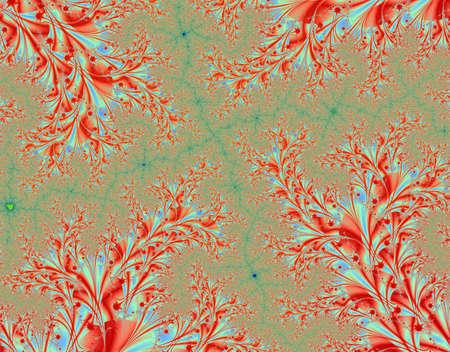 rendition: Fractal rendition of autumn color back ground