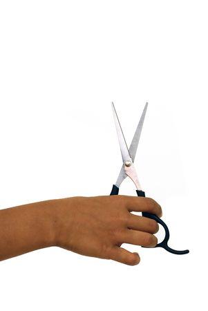 Scissors and hand concept pf an hair cut
