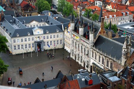 workship: Brugge in Belgium during after a brief shower Stock Photo