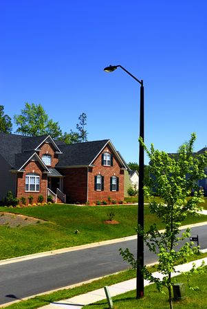 A set of newly built colonial houses in a subdivision Stock Photo - 2277127