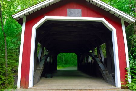 A beautiful covered bridge in New England