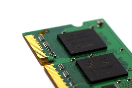 Macro shot of a computer RAM memory Stock Photo - 2277033