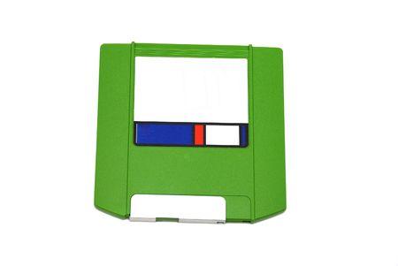 Green disquette isolé sur un fond blanc  Banque d'images - 2276962