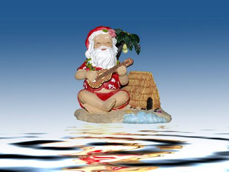 Santa claus dressed in traditional hawaiian costume Stock Photo - 2346588