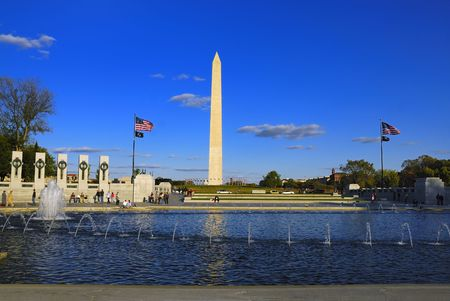 governing: War memorial and State capitol a symbol of Washington DC