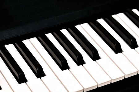 Close up picture of keys on a piano Stock Photo