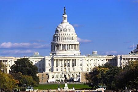 Ons Capitol gebouw van de plek waar Congres ontmoet Stockfoto