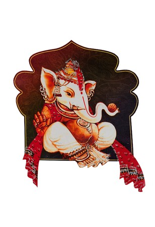 hindu god: Beautiful picture of Ganesha an hindu god
