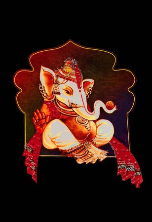 god of wealth: Beautiful picture of Ganesha an hindu god