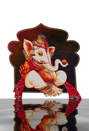 Beautiful picture of Ganesha an hindu god photo