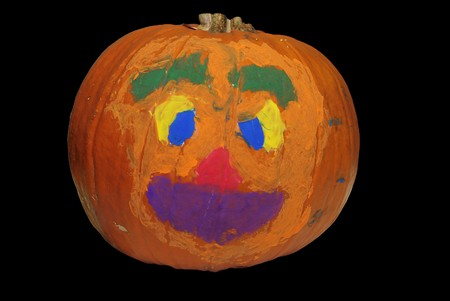 Big Halloween pumpkin painted with bright colors Stock Photo - 3951032