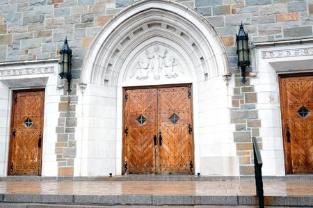 A beautiful facade of a roman catholic church Stock Photo - 5121215