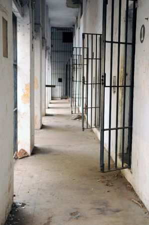 A deserted prison cell in a southern city in India