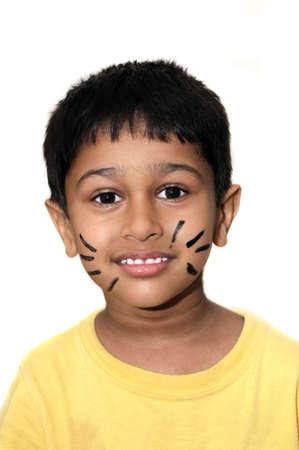 bigodes: Um garoto indiano consider