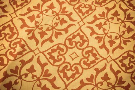 Patterns present on a beautiful woollen carpet