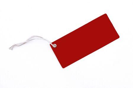 reg: Reg blank tag isolated on white back ground