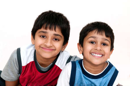 Brothers looking very happy and smiling for you photo