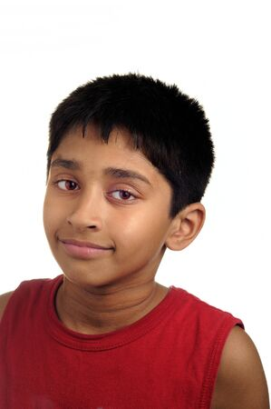 An handsome Indian kid smiling at the camera  Stock Photo - 7839594