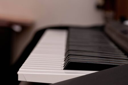 close up shot of black and white keys of a piano Stock Photo - 8486071