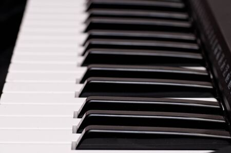 close up shot of black and white keys of a piano Stock Photo - 8486076