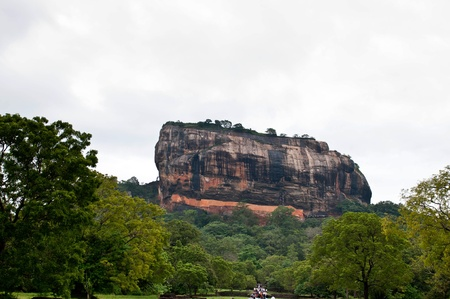 Fresco paintings in Sigiriya Srilanka Stock Photo