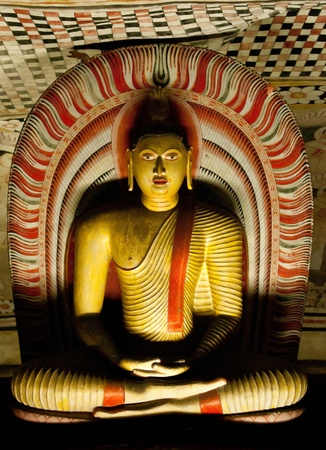 Famous Rock and Cave Temple at Dambulla SriLanka