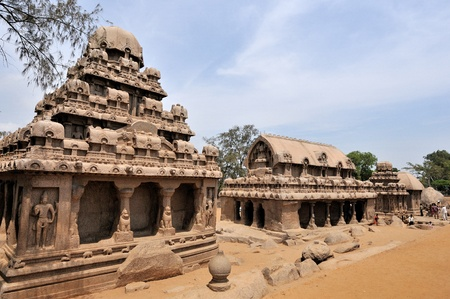 bass relief: One of the ancient architectural wonders of the Pallava kings in south India
