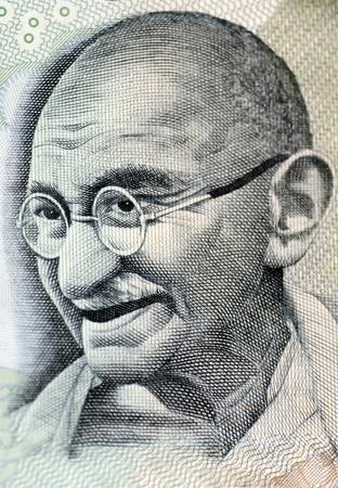gandhi: Close up photo  of Mahatma Gandhi father of Indian nation