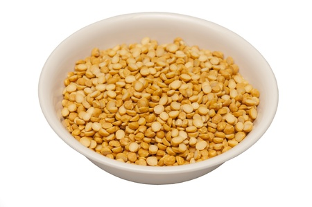 Channa dal, famous Indian legume also called yellow Pigeon peas photo