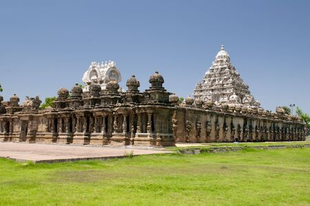 Beautiful Pallava architecure at Kailasanathar temple in Kanchipuram India