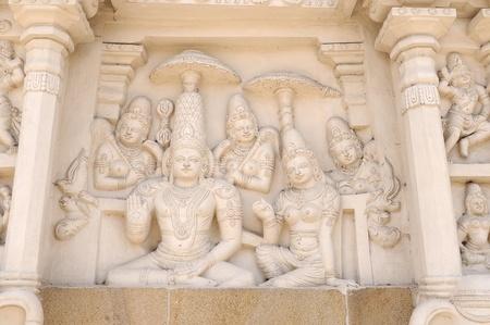 an ancient hindu temple in kancheepuram india photo