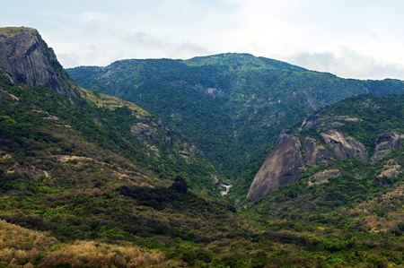 Western ghats in India with thick vegetation photo