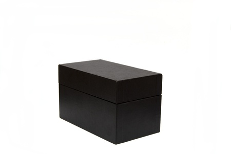 unexpectedness: A black box isolated on a white back ground Stock Photo