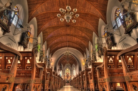 Intricate architecture at Santhome Bascillica in Chennai India